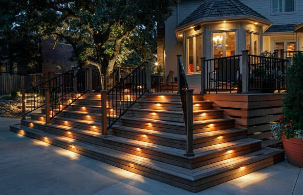 step lighting - houston landscape lighting